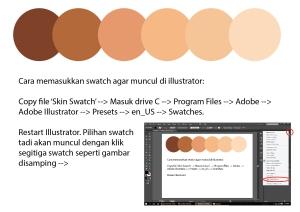 cara import swatch kulit
